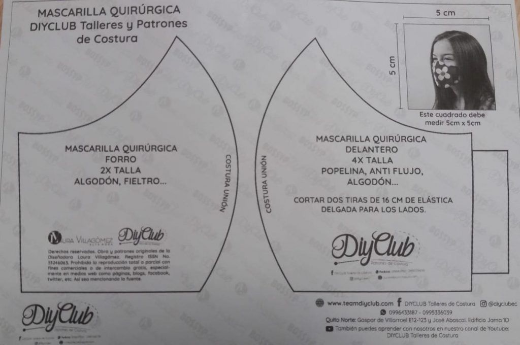 Patrón Mascarilla Quirúrgica