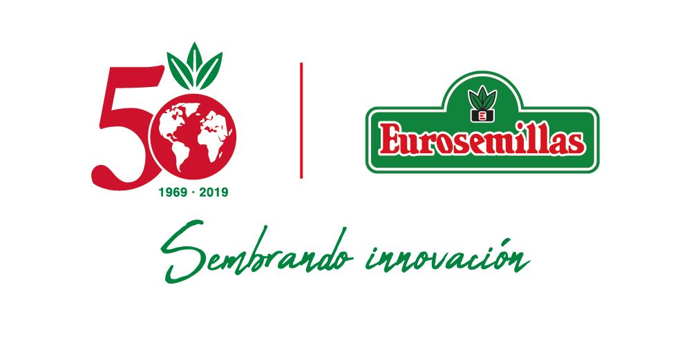 logo 50 aniversario español sembrando innovacion